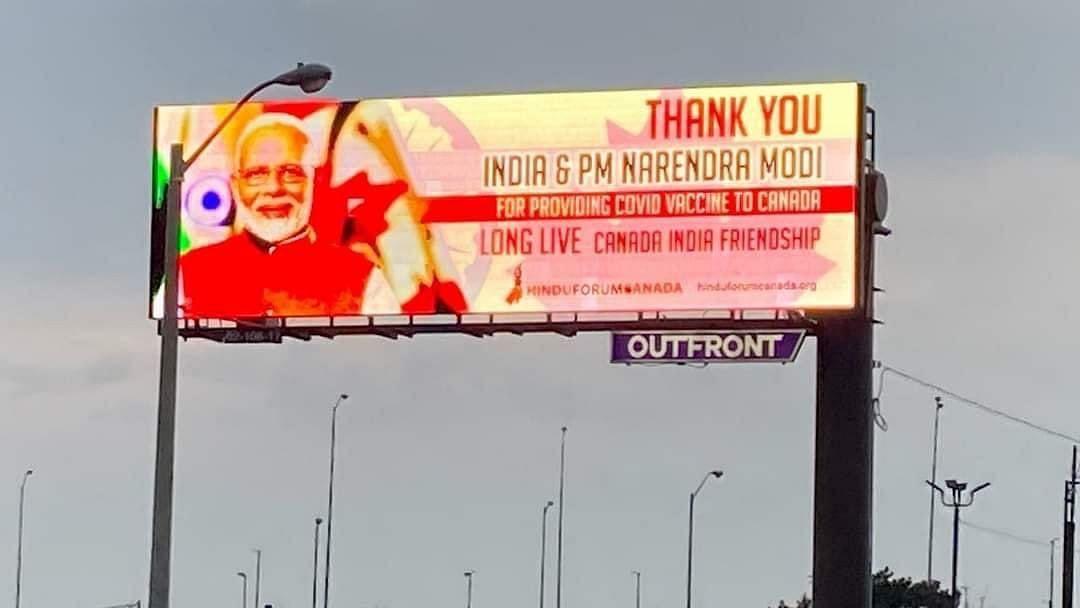 Hoardings Thanking Modi Taken Down in Toronto Citing Complaints