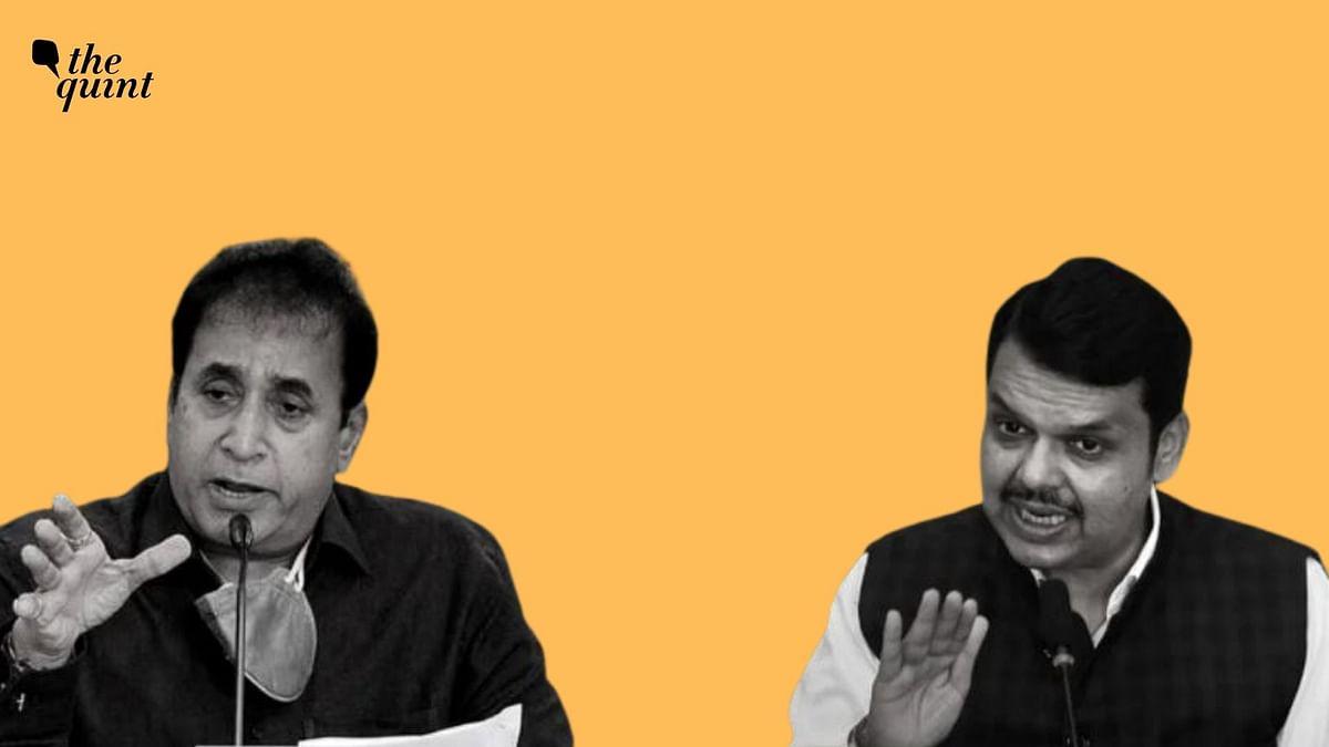 Anil Deshmukh (L) and Devendra Fadnavis.