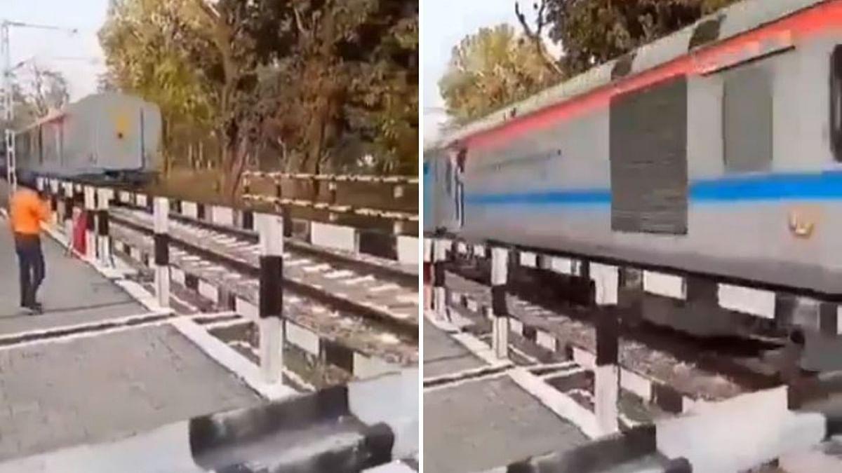 Driver Slams Brakes to Avoid Mishap, Train Moves 35 Km Backwards