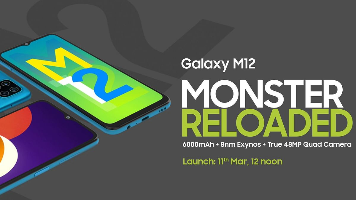 Samsung Galaxy M12 will launch on 11 March 2021, at 12 noon.