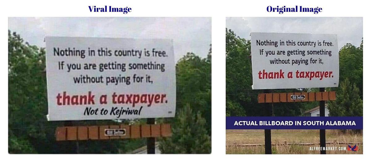 US Billboard on 'Taxpayers' Edited to Take a Dig at CM Kejriwal