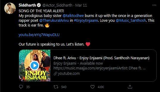 Viral Tamil Song Enjoy Enjaami Honours Harmony With Nature