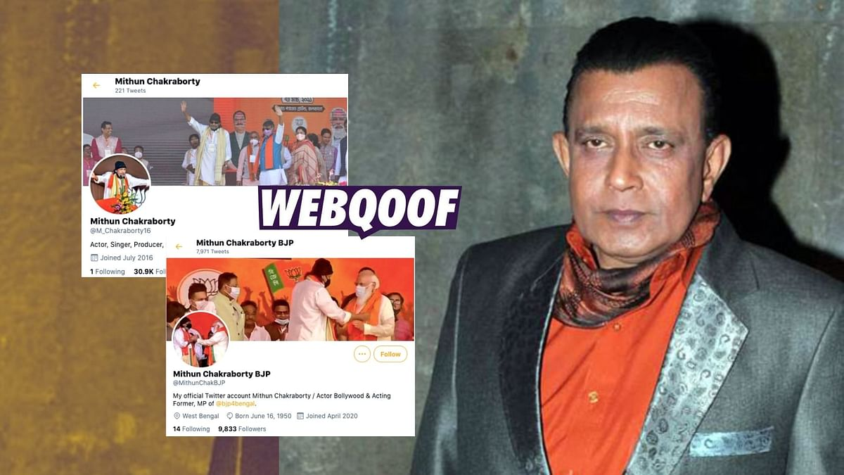Several Twitter accounts have cropped in the name of the popular film star Mithun Chakraborty.