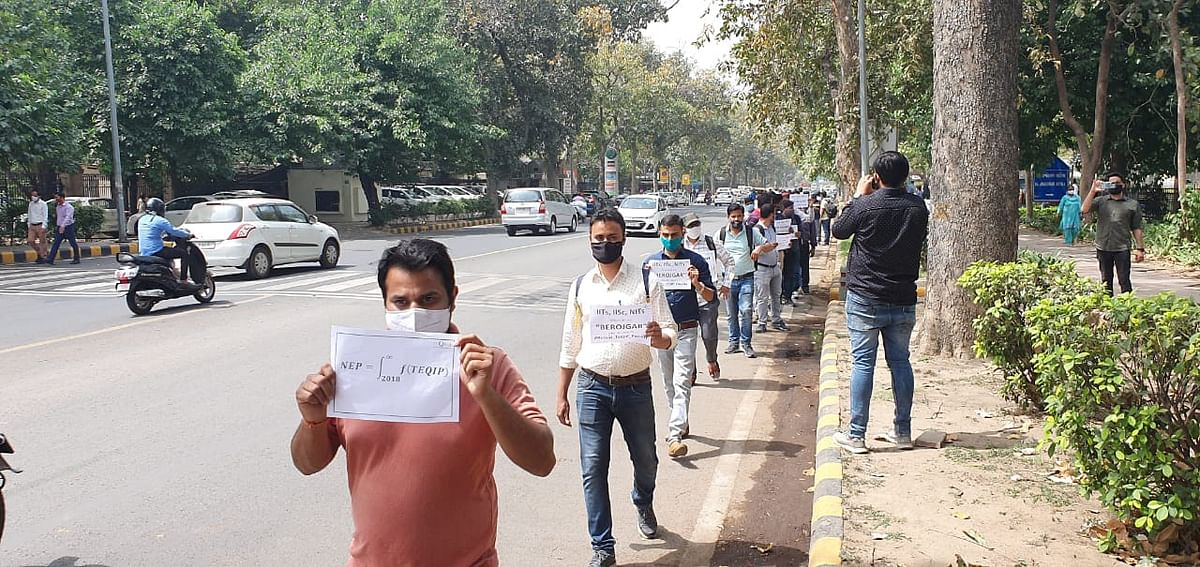 Protest by TEQUIP-III faculty member