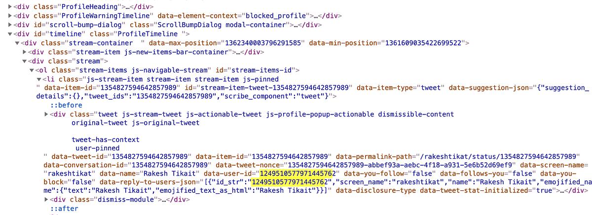 Code of webcache page of imposter account @rakeshtikait