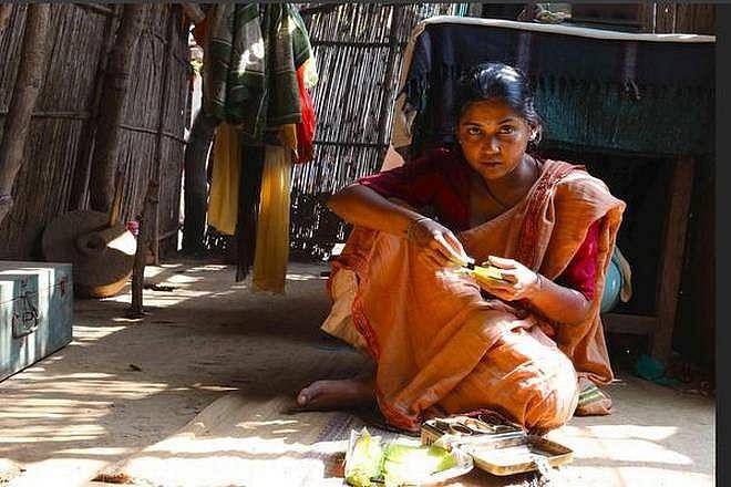 Usha Jadhav in a still from <i>Mai Ghat</i>.