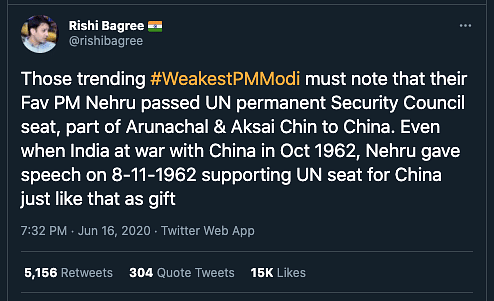 "This claim was debunked by <b>The Quint</b>. Read our fact-check <a href=""https://www.thequint.com/news/webqoof/did-nehru-give-india-permanent-seat-at-unsc-to-china-in-1950"">here</a>."