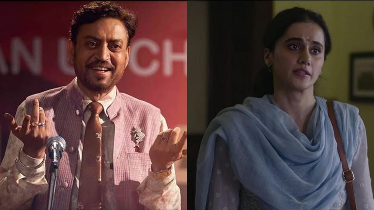 Irrfan Khan in <i>Angrezi Medium </i>and Taapsee Pannu in <i>Thappad.</i>