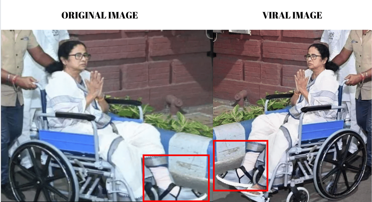 Left. Original image. Right: Viral image.