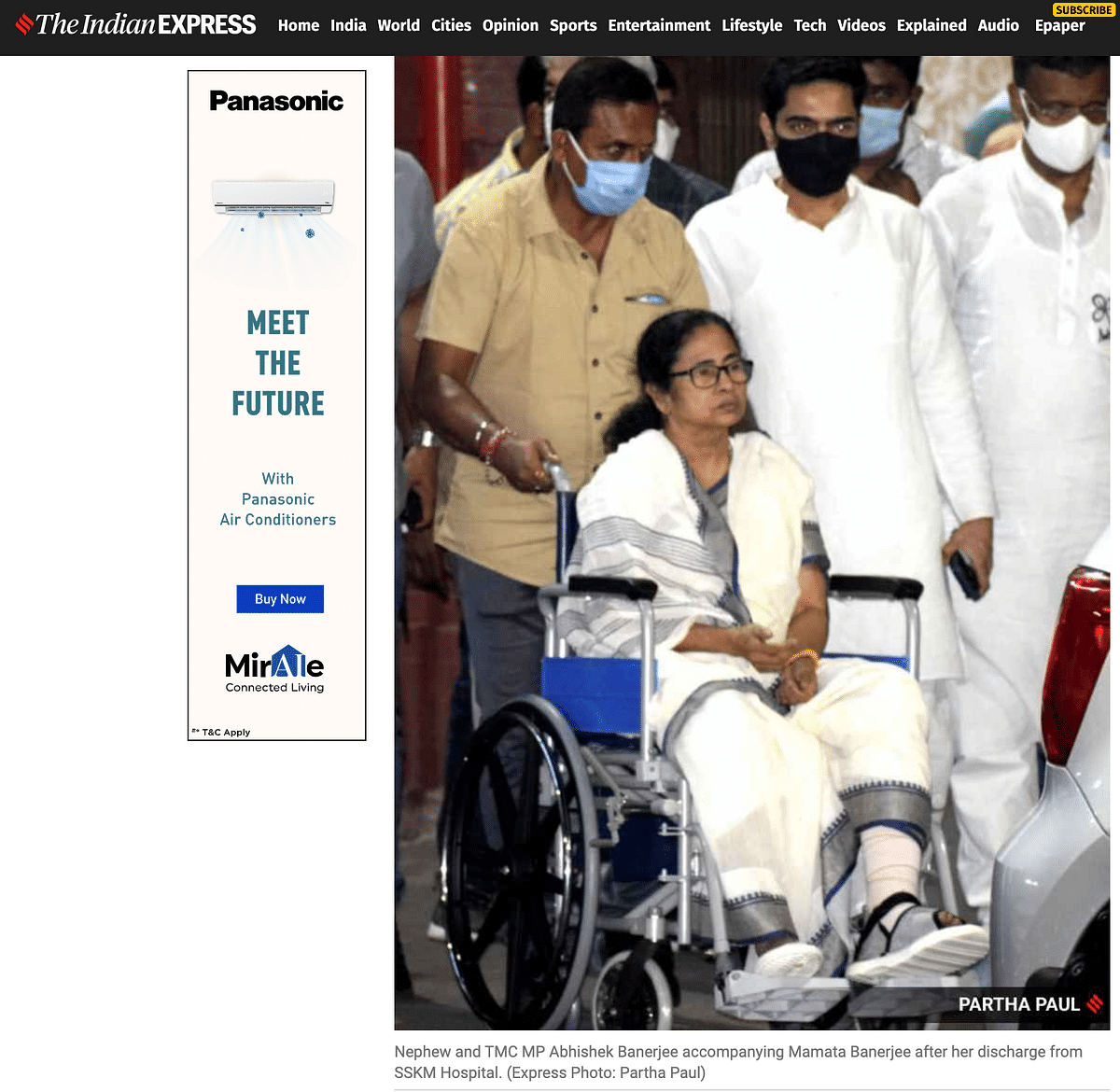 Flipped Pic Claims Mamata's Injury Shifted From Left to Right Leg
