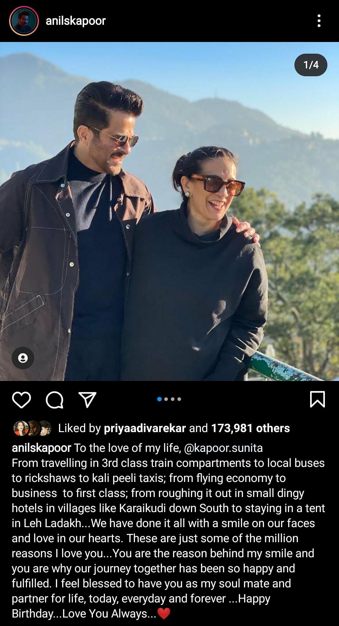 Anil Kapoor, Sonam and Rhea Wish Sunita Kapoor on Her Birthday