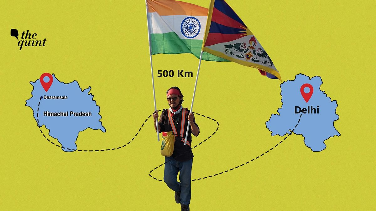 Son of Tibetan Refugees Walks 500 Km for Tibet Uprising Day