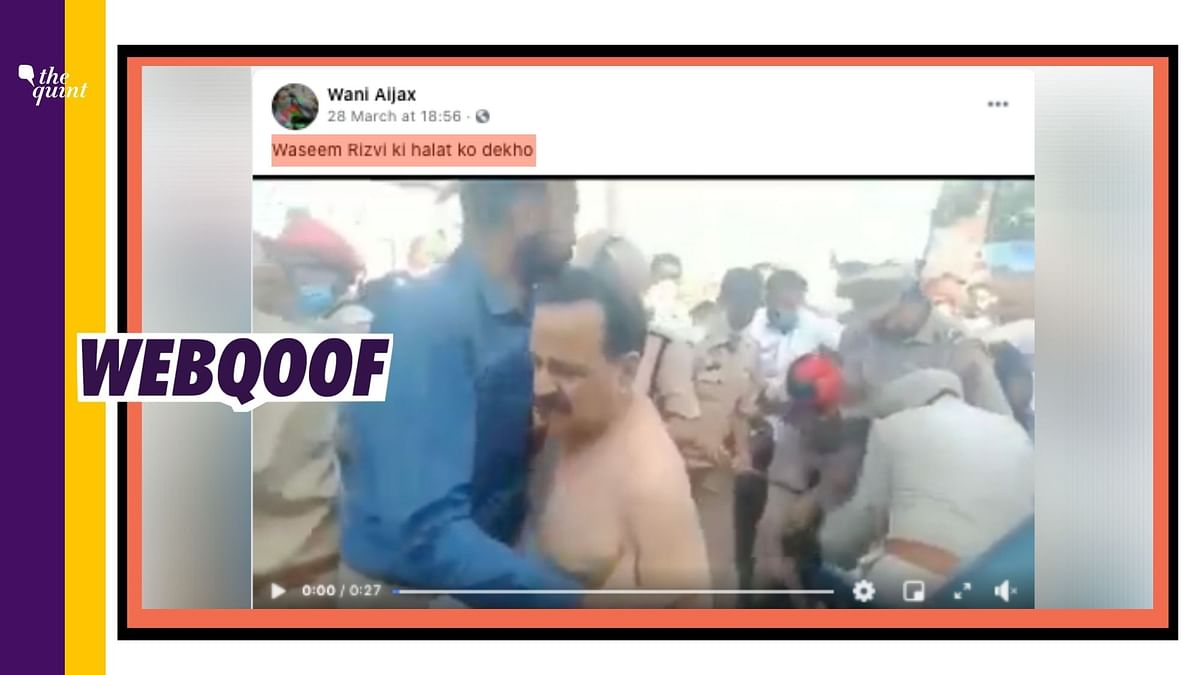 Clip of Farmers Thrashing BJP MLA Viral as Shia Leader Wasim Rizvi