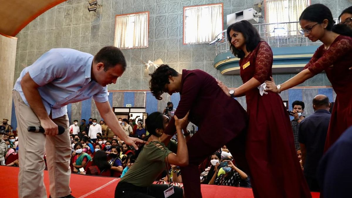 Rahul Gandhi Teaches Japanese Martial Art To Kerala College Women