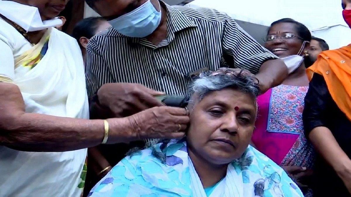 Kerala: Denied Ticket, Mahila Cong  Chief Quits, Shaves Head
