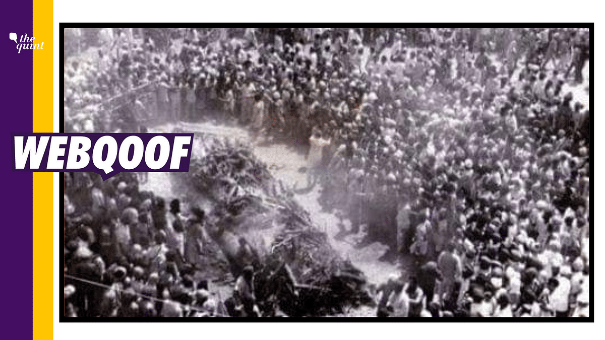 Fact-Check | The viral photograph didn't show the funeral of Bhagat Singh. It was a photo of the funeral pyres of 13 Sikhs killed during clashes with Nirankaris in April 1978.