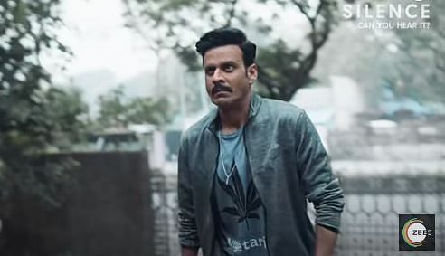 Manoj Bajpayee in a still from the 'Silence... Can You Hear It' trailer