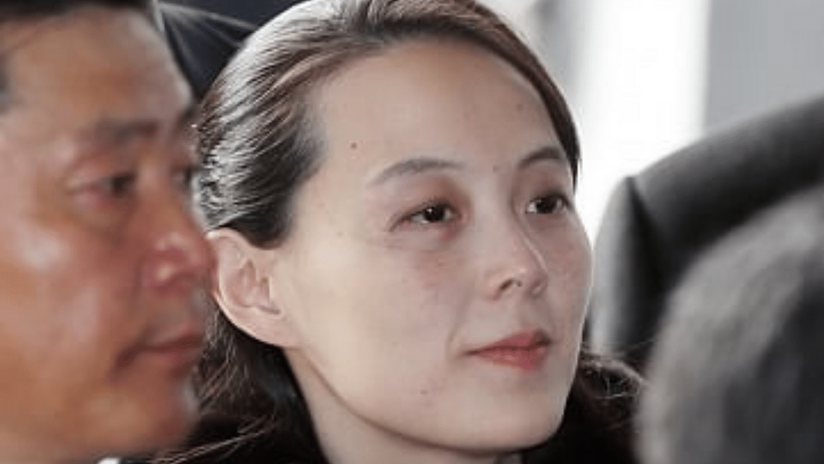 North Korean leader Kim Jong-un's sister, Kim Yo-jong.