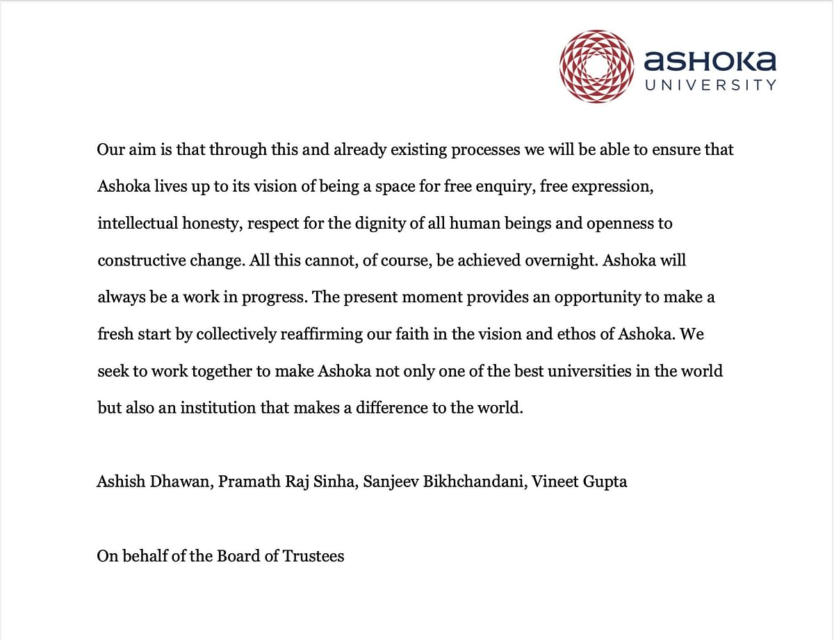 Liberty is Integral: Ashoka to Appoint Ombudsperson, Say Founders