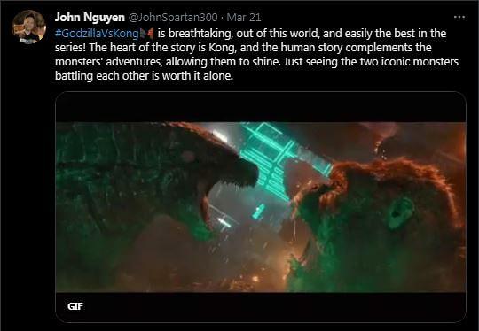Godzilla VS Kong: First Reactions from Critics to Monster Showdown