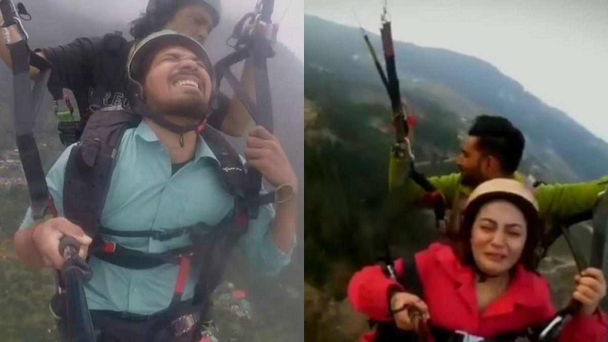 Watch: Woman Scream 'Bhaiya Dheere Karo' While Paragliding