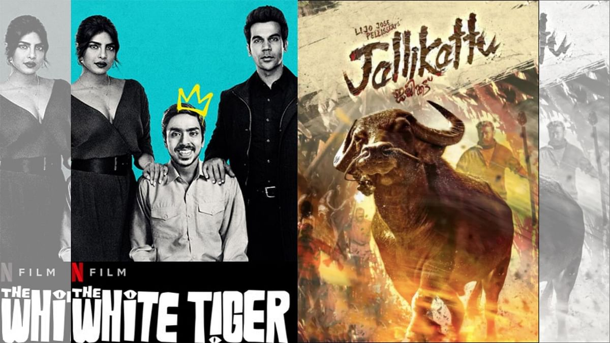 Poster of <i>The White Tiger </i>and <i>Jallikattu.</i>