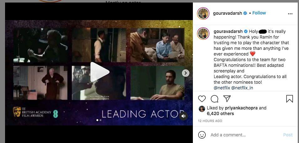 Priyanka, Adarsh React to 'The White Tiger's' BAFTA Nominations