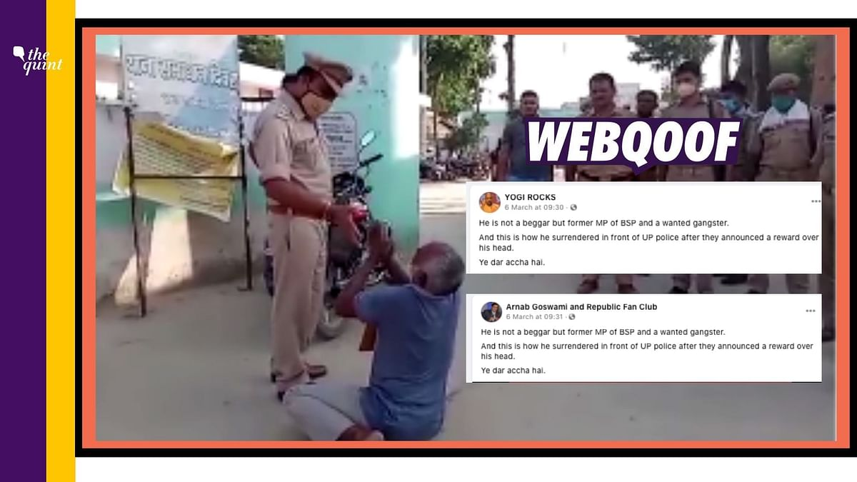 No,  Man Pleading Before UP Cops in Viral Video is Not a BSP MP
