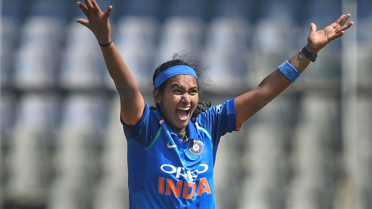 Indian bowler Shikha Pandey has been left out of India's side for the South Africa series.
