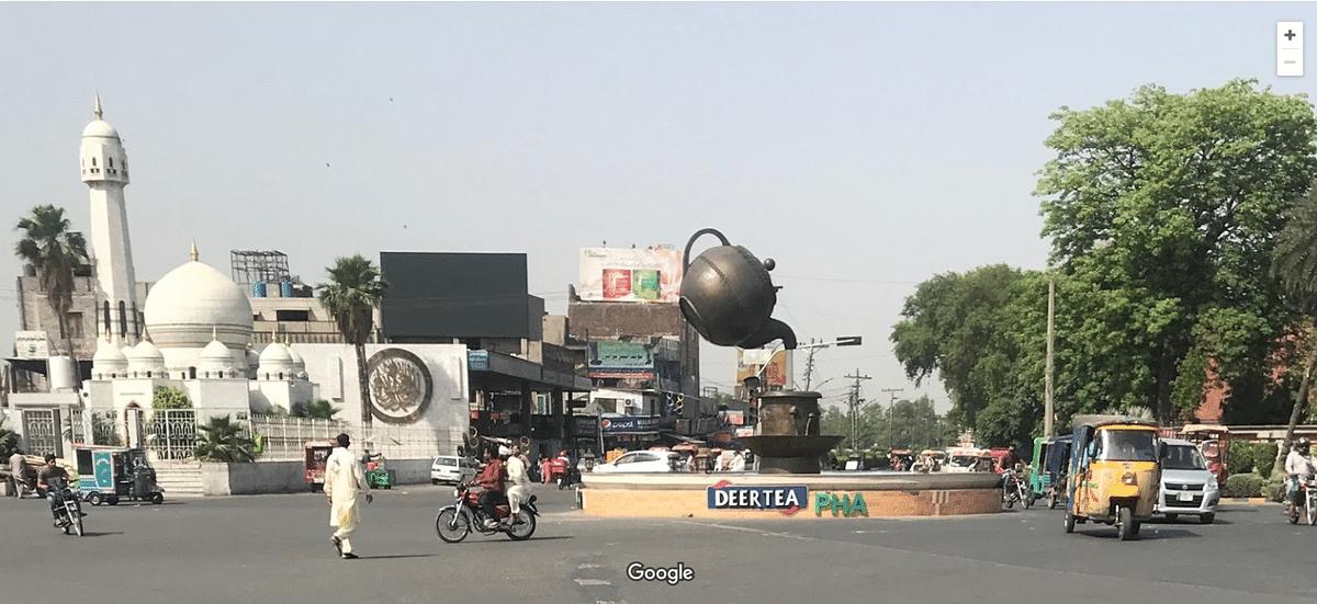 Edited Image of Chowk in Pakistan Shared as 'Narendra Modi Chowk'