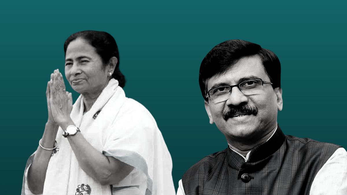 West Bengal CM Mamata Banerjee (Left), Rajya Sabha MP Sanjay Raut (Right).