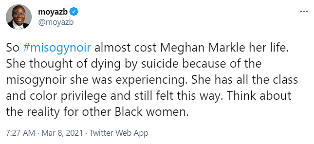Meghan, A Victim Of Misogynoir: Oprah's Interview Only Confirms It