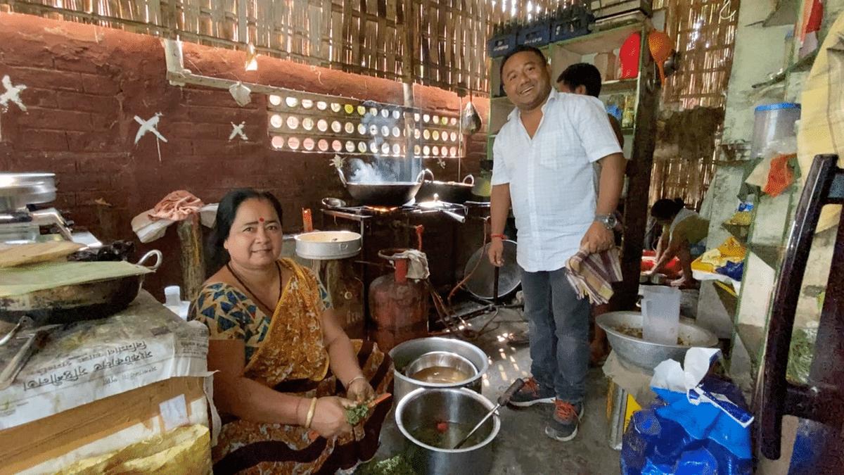 Jitu Gogoi, a restaurant owner in Sivasagar, Assam.