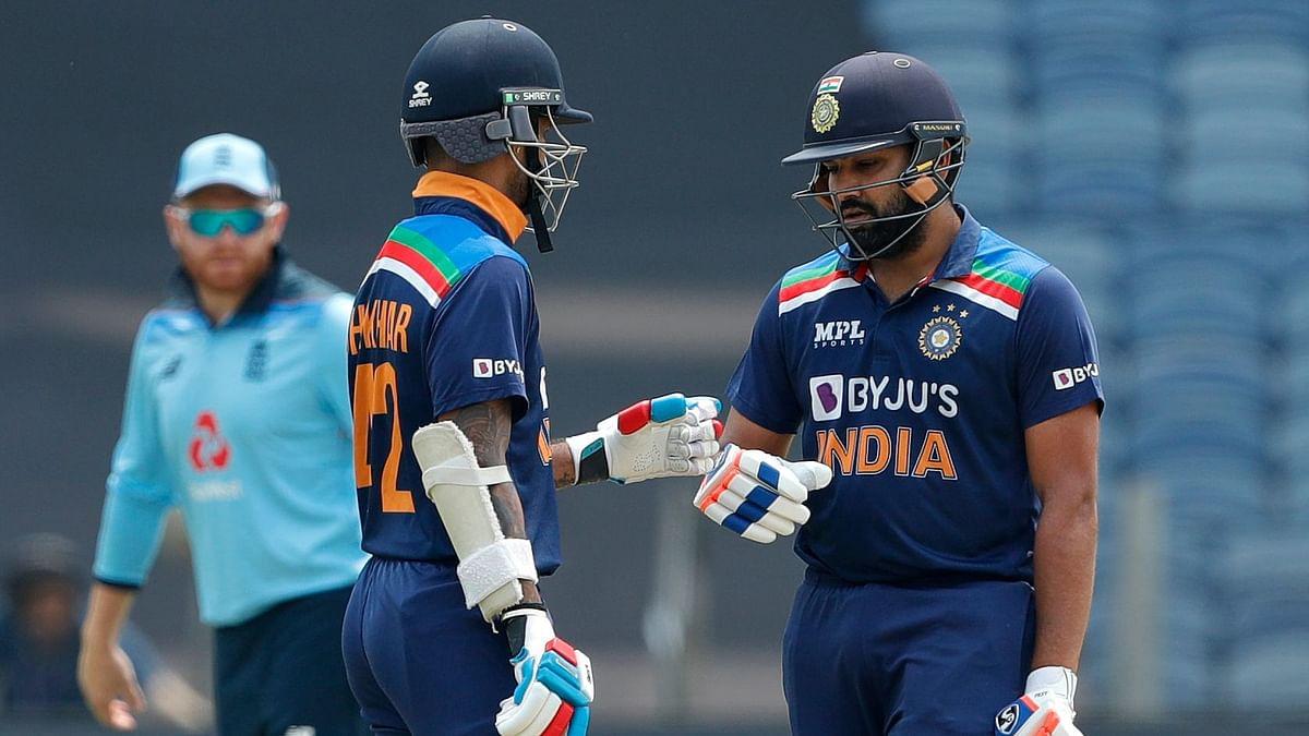 Rohit Sharma and Shikhar Dhawan opened the batting for India in the first ODI.