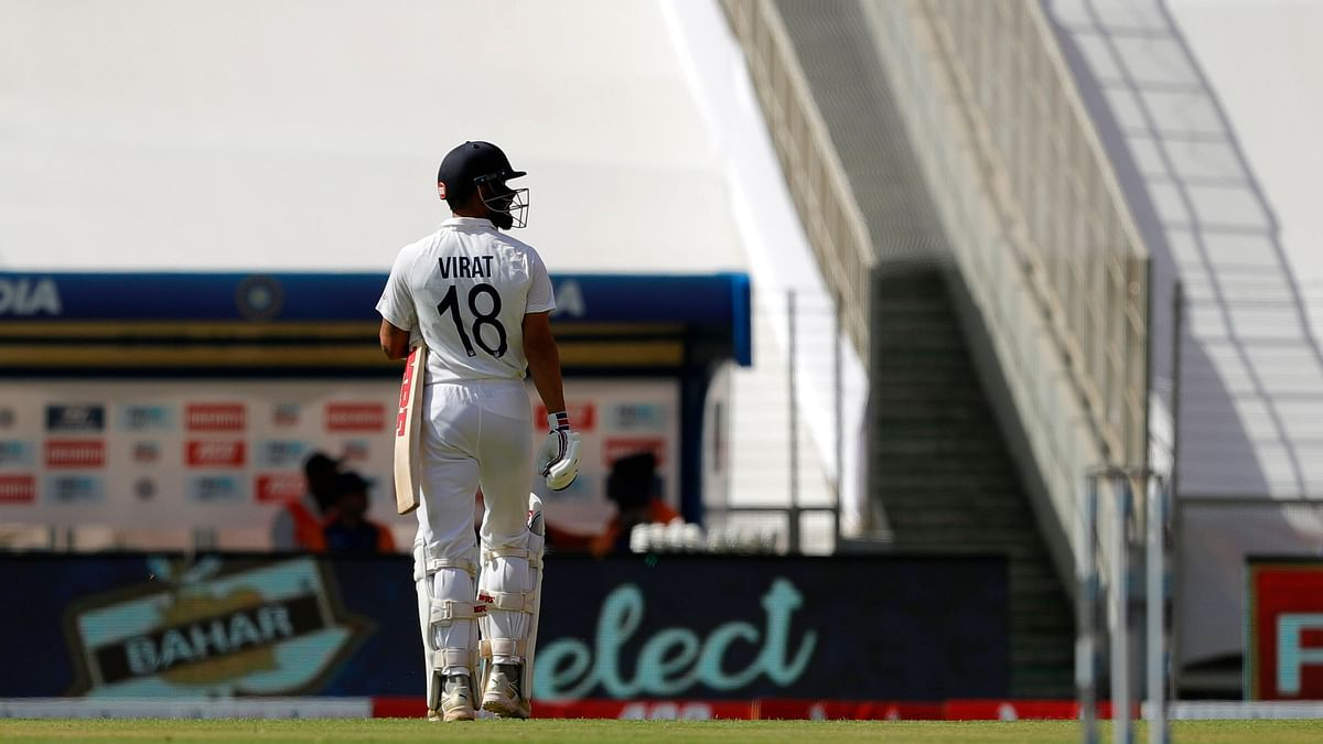 Virat Kohli was dismissed for 0 by Ben Stokes in the 4th Test.