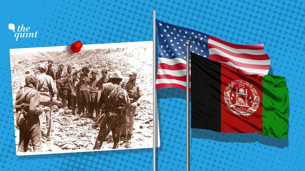 Image of Soviet-Afghan war (L), US and Afghan flags (R) used for representational purposes.