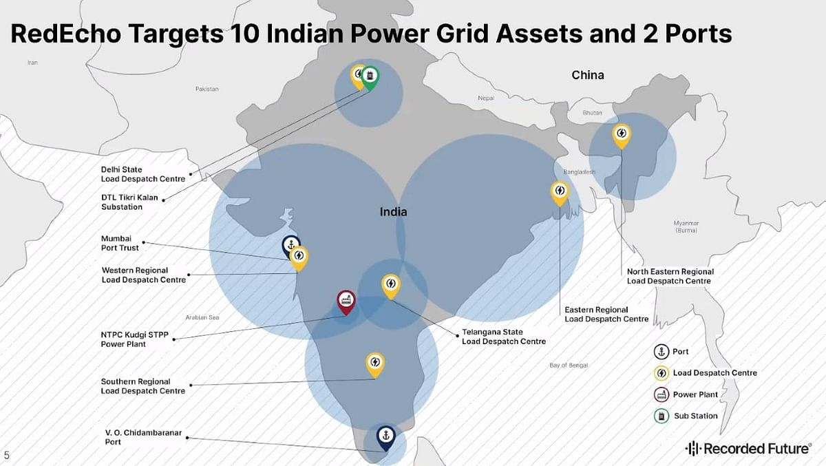 Indian infrastructure targeted by 'RedEcho'.
