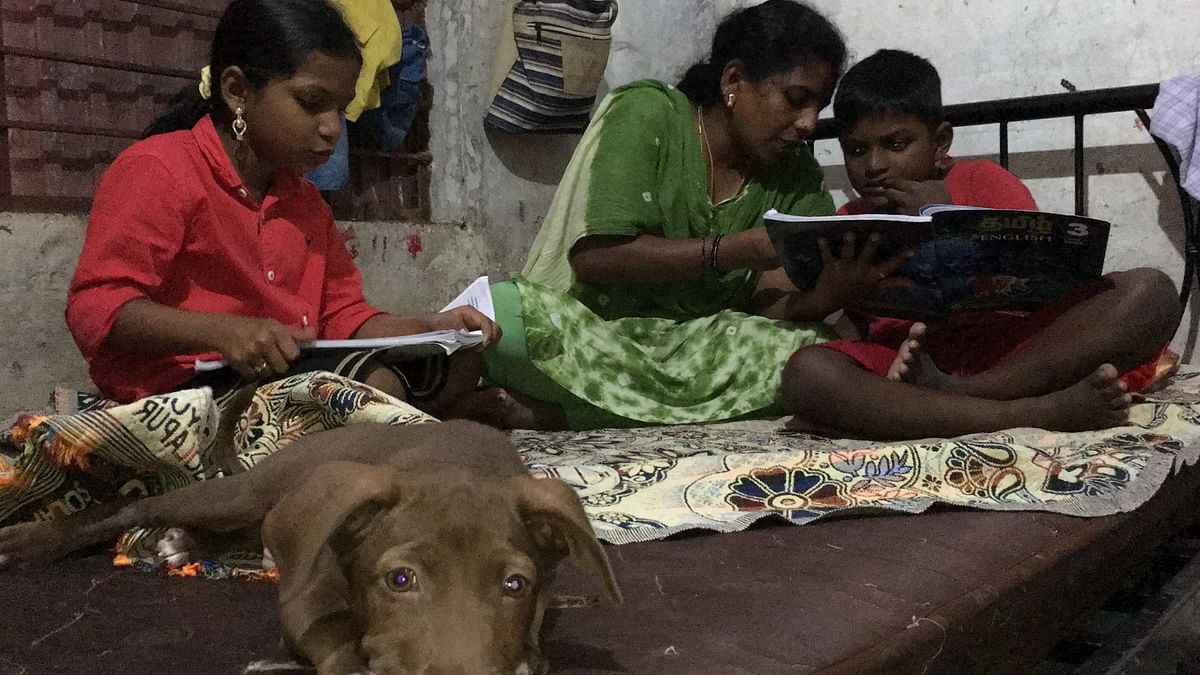 28-year-old Rathi is a domestic worker living in Chennai with her husband and two kids.