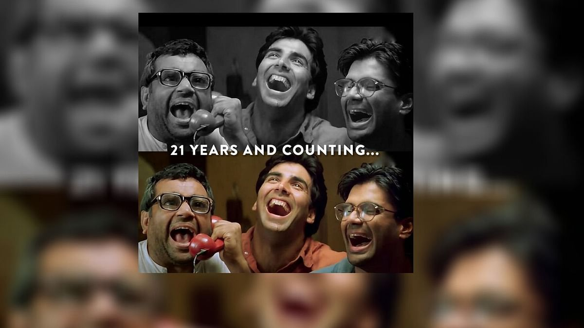 """<div class=""""paragraphs""""><p>Hera Pheri completed 21 years on Wednesday, 31 March.</p></div>"""