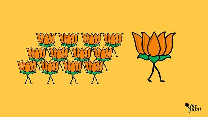 Image of the BJP's symbol used for representational purposes.