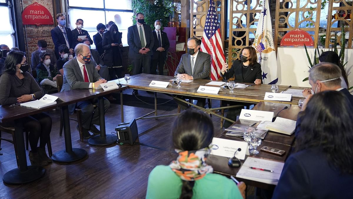 Indian-Origin Businesswoman Attends Round Table with US VP Harris
