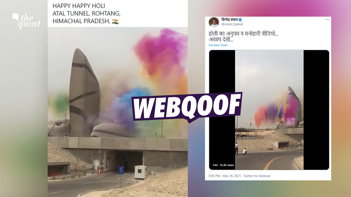 Video of Saudi Arabia's Event Shared as Holi Celebrations in India