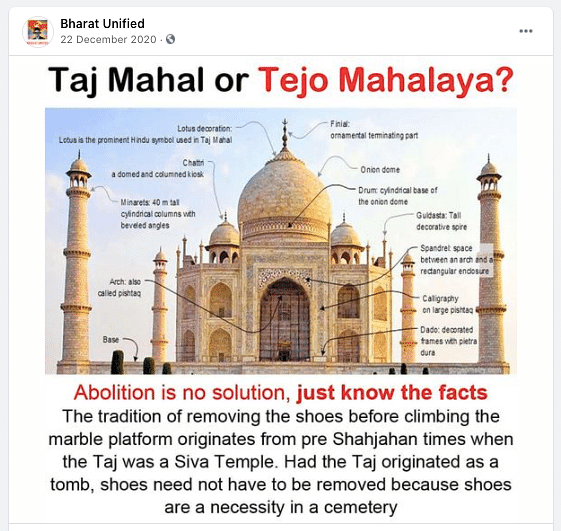 "This particular conspiracy theory has been debunked by the <a href=""https://www.hindustantimes.com/india-news/taj-mahal-is-a-tomb-and-not-a-temple-asi-tells-court/story-TaVPTc0ppaTzgbzpyrihsM.html"">Archaeological Survey of India</a> itself.&nbsp;"