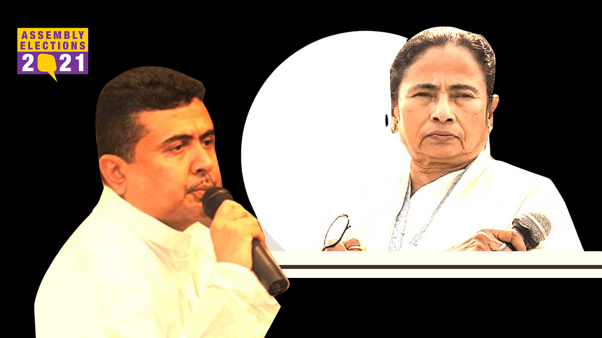 Suvendu Adhikari and Mamata Banerjee