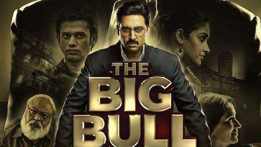 Abhishek Bachchan in <i>The Big Bull&nbsp;</i>poster.