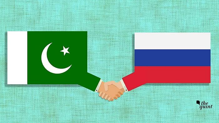 Image of Pakistan flag and Russian flag used for representational purposes.
