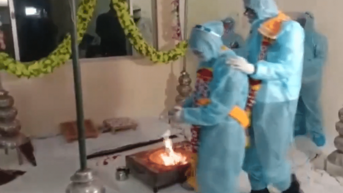 Watch: MP Couple Ties the Knot in PPE as Groom Tests COVID+