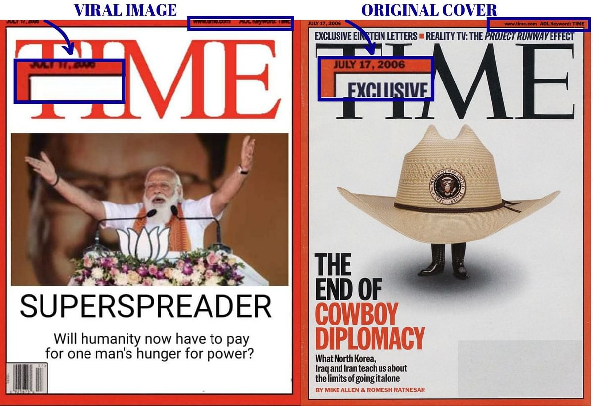 This TIME Mag Cover Calling PM Modi 'Superspreader' Is Morphed