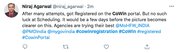 Nearly 1.33 Crore Register on CoWIN for COVID Vaccination on Day 1