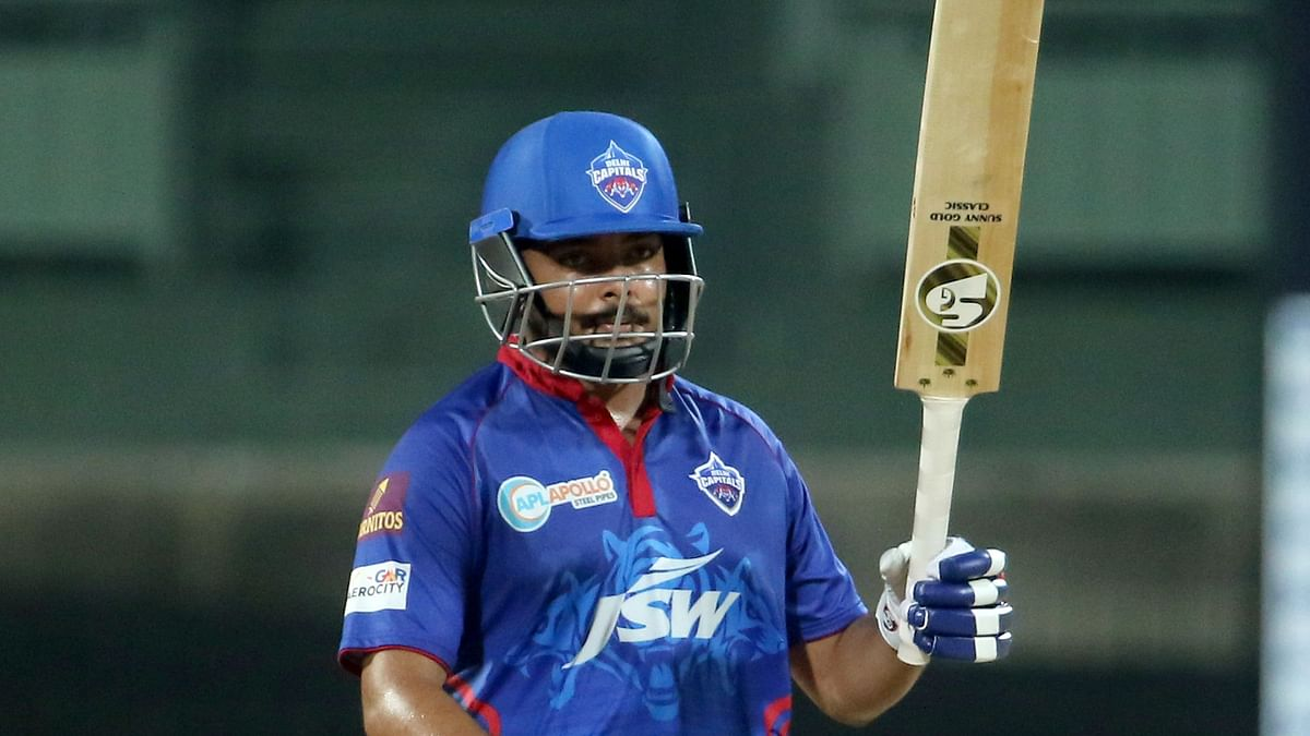 Prithvi Shaw scored his second century of the 2021 IPL season.